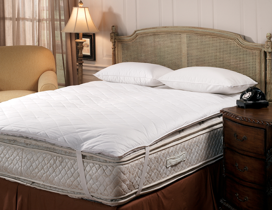 White Goose Quilted Top Feather Bed